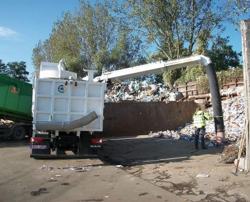 Müllsauger WASUC Anwendung