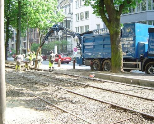 Saugbagger Gleisarbeiten